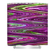 Construction Color Abstract P Shower Curtain