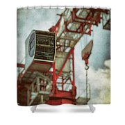 Construction Crane Shower Curtain by Wim Lanclus