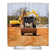 Construction Digger Shower Curtain