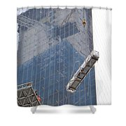 Construction Reflection Shower Curtain