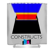 Constuctivist Poster Shower Curtain