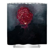 Consumption Series, IIi Shower Curtain by Daniel Hannih