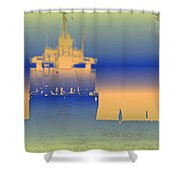 Container Sail 2 Shower Curtain