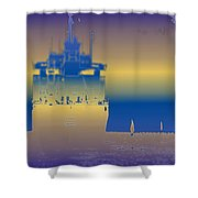 Container Sail 3 Shower Curtain