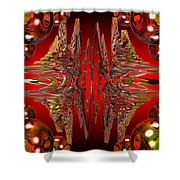 Containment Field-red Shower Curtain