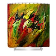 Contemplating Perseverance Shower Curtain