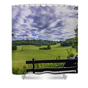 Contemplating The Beautiful Scenery Shower Curtain