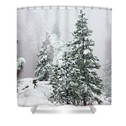 Contemplating The Hike Shower Curtain