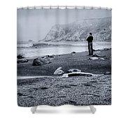 Contemplation - Beach - California Shower Curtain