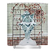 Contemplation Of Winter Shower Curtain