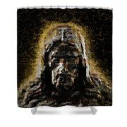 Contemplative Christ Shower Curtain
