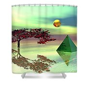 Contemplative Shower Curtain