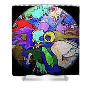 Contemporary Art - Abstract In The Round  Shower Curtain