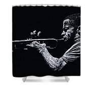 Contemporary Jazz Trumpeter Shower Curtain