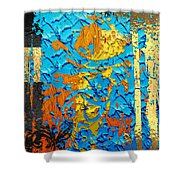 Contemporary Jungle No. 3 Shower Curtain