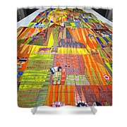 Contemporary Mosaic Shower Curtain