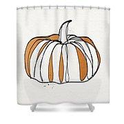 Contemporary Pumpkin- Art By Linda Woods Shower Curtain