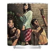 Contemporary Subjugation Shower Curtain