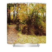 Contented Path Shower Curtain