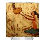 Contentment - Tile Shower Curtain