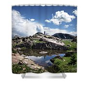 Continental Divide Above Twin Lakes 2 - Weminuche Wilderness Shower Curtain