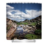 Continental Divide Above Twin Lakes 3 - Weminuche Wilderness Shower Curtain