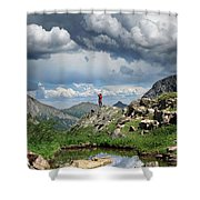 Continental Divide Above Twin Lakes 4 - Weminuche Wilderness Shower Curtain