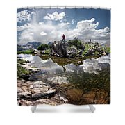 Continental Divide Above Twin Lakes 5 - Weminuche Wilderness Shower Curtain