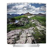 Continental Divide Above Twin Lakes 6 - Weminuche Wilderness Shower Curtain