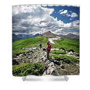 Continental Divide Above Twin Lakes 7 - Weminuche Wilderness Shower Curtain
