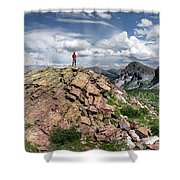 Continental Divide Above Twin Lakes - Weminuche Wilderness Shower Curtain