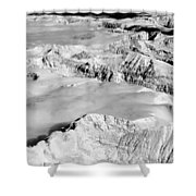 Continental Divide Clouds Rocky Mountains Shower Curtain