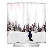 Continental Divide January 1 2000 Shower Curtain