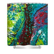 Contorted Canopy Shower Curtain