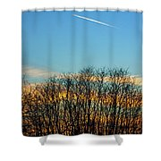 Contrail At Dusk Shower Curtain