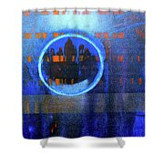 Contrast Ring 2 Shower Curtain