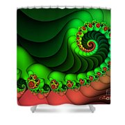 Contrasted Harmony Shower Curtain