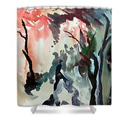 Contrasting Autumn Shower Curtain