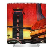 Control Tower Shower Curtain