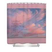 Conundrum Shower Curtain