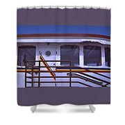 Converted Tugboat Cabin   Canal Park  Duluth Minnesota Shower Curtain
