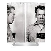 Convict No. 1428 - Whitey Bulger - Alcatraz 1959 Shower Curtain