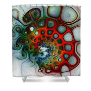 Convolutions Shower Curtain