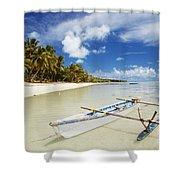 Cook Islands, Aitutaki Shower Curtain by Bob Abraham - Printscapes