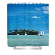 Cook Islands, Rarotonga Shower Curtain