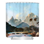 Cook: Tahiti, 1773 Shower Curtain