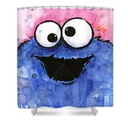Cookie Monster Shower Curtain