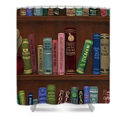 Cookin' The Books Shower Curtain