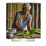 Cooking For Guests Shower Curtain