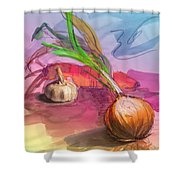 Cooking In Spain Shower Curtain